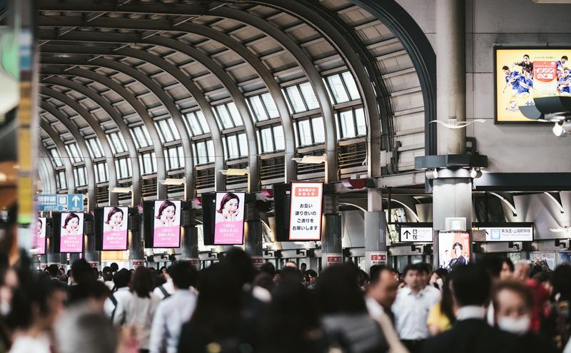2020年4月13日 品川駅は混んでいた