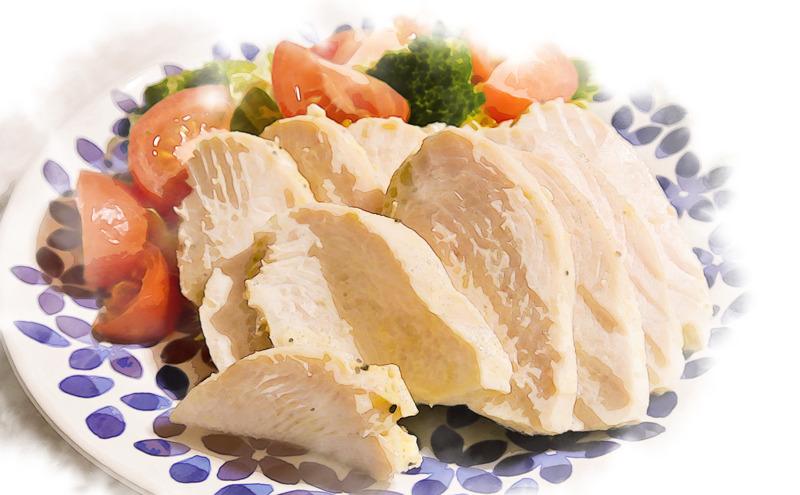 蒸し鶏(というか茹で鶏)の作り方